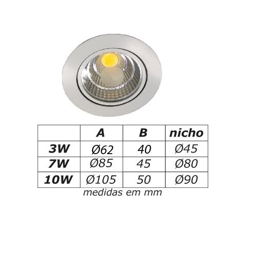EMBUTIDO REDONDO LED II