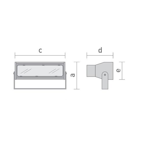 Projetor para módulo LED 40w DT