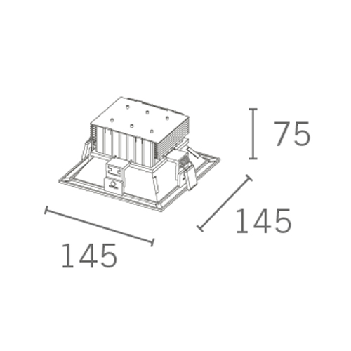 Downlight-Quadrado-10w-DT